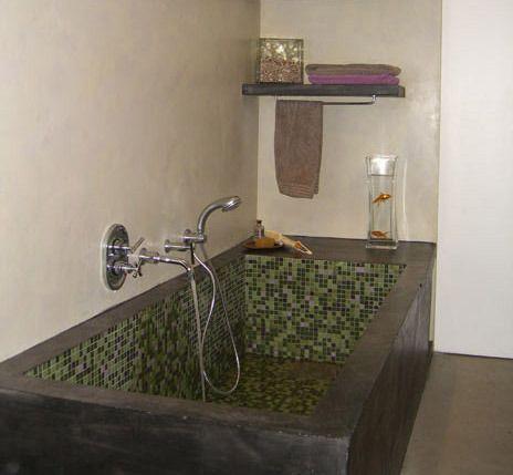 Salle de bain et baignoire en béton bathroom Pinterest Interiors