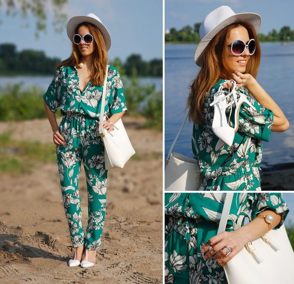 Iren P. - GREEN FLORAL JUMPSUIT | Outfit Inspirations | Pinterest ...