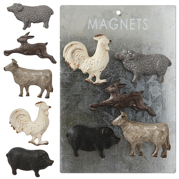Rustic Farm Animal Magnets Set Of 5 Rustic Farm Animal Magnets Set Of 5 Animal Animalwallpaper Ani In 2020 Farm Animals Decor Animal Decor Cow Kitchen Decor