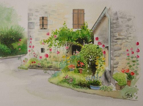 porte fleurie 3 PORTE E PORTONI Pinterest Arch, Watercolor and - peinture porte et fenetre