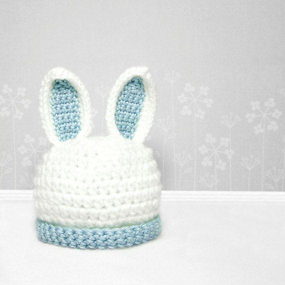 Crochet Bunny Hat | Babies | Pinterest | Gorros, Tejido y Gorros ...