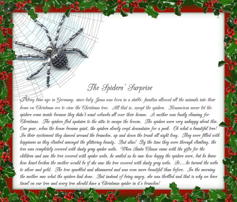 image regarding Legend of the Christmas Spider Printable named Xmas Traditions Against My Family members In the direction of Yours ~ The Xmas