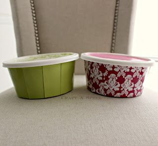 Re-purposed Cool Whip Containers