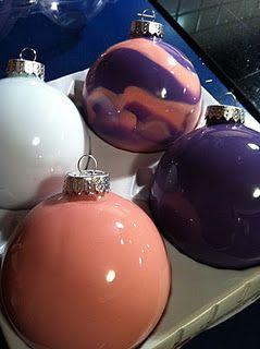 paint ornaments.