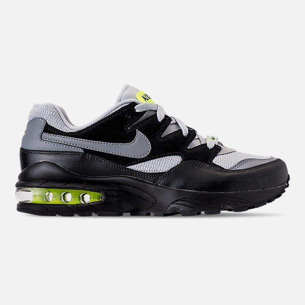 9522885d96b Right view of Men s Nike Air Max 94 Casual Shoes in Wolf Grey Cool  Grey Black Volt