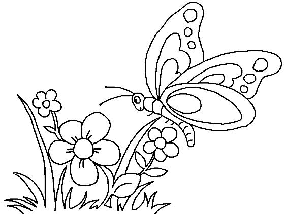 Flores Con Mariposas Para Colorear Imagenes De Mariposas Bonitas Mariposas Para Colorear Paginas Para Colorear De Flores