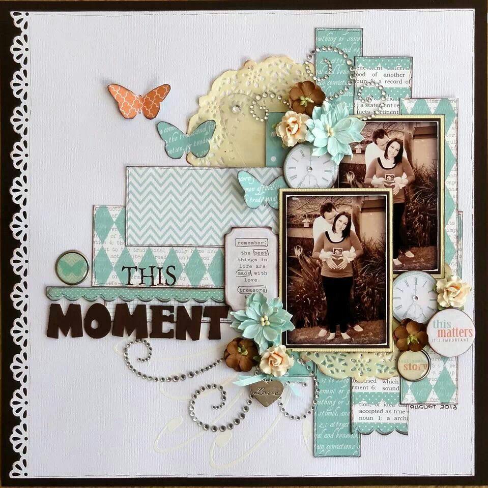 #papercraft #scrapbook #layout  Valerie Ann Thorpe - paper people