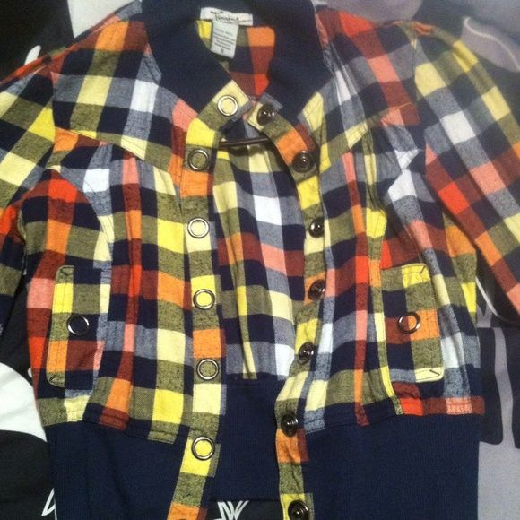 Yellow plaid jacket Yellow plaid jacket. In great condition! Jackets & Coats