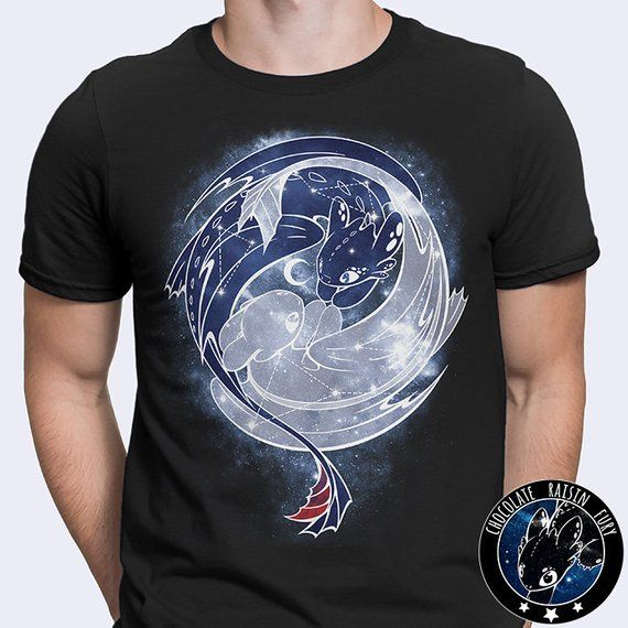 e860edb84 The Last Starry Dragons - Toothless Tee, Night Fury Tee, Light Fury Tee,  Light Fury Shirt, Toothless