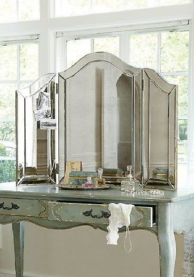 Wonderful NEW Large Venetian Style TriFold Vanity Table Top Makeup Mirror S1