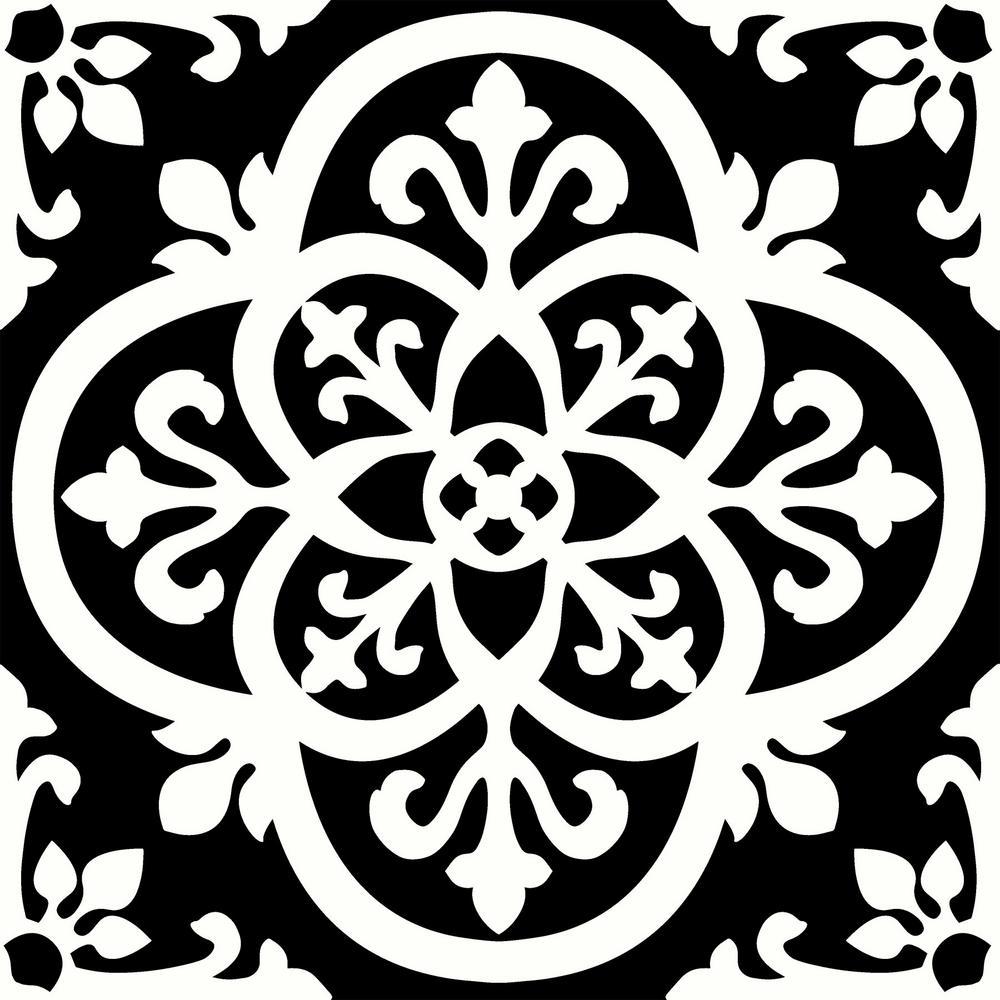 Floorpops Gothic Peel And Stick Floor Tiles 12 In X 12 In 20 Tiles 20 Sq Ft Tfp2475 Peel And Stick Floor Stick On Tiles Tile Floor