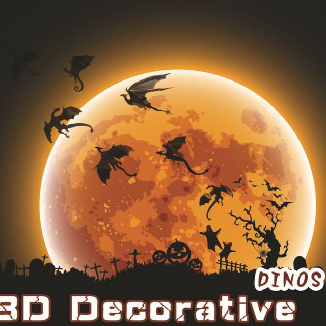 7pcs/set DIY Halloween 3D Dragon Wall Art Fantasy Decor Dinos Rooms Creative Decoration Bedroom Sticker for Boys Baby Kids Gifts