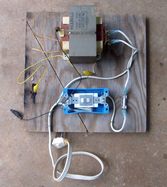 All The Parts Mounted To A Piece Of Plywood Burning Wood With Electricity Wood Art Projects Wood Burning Tool