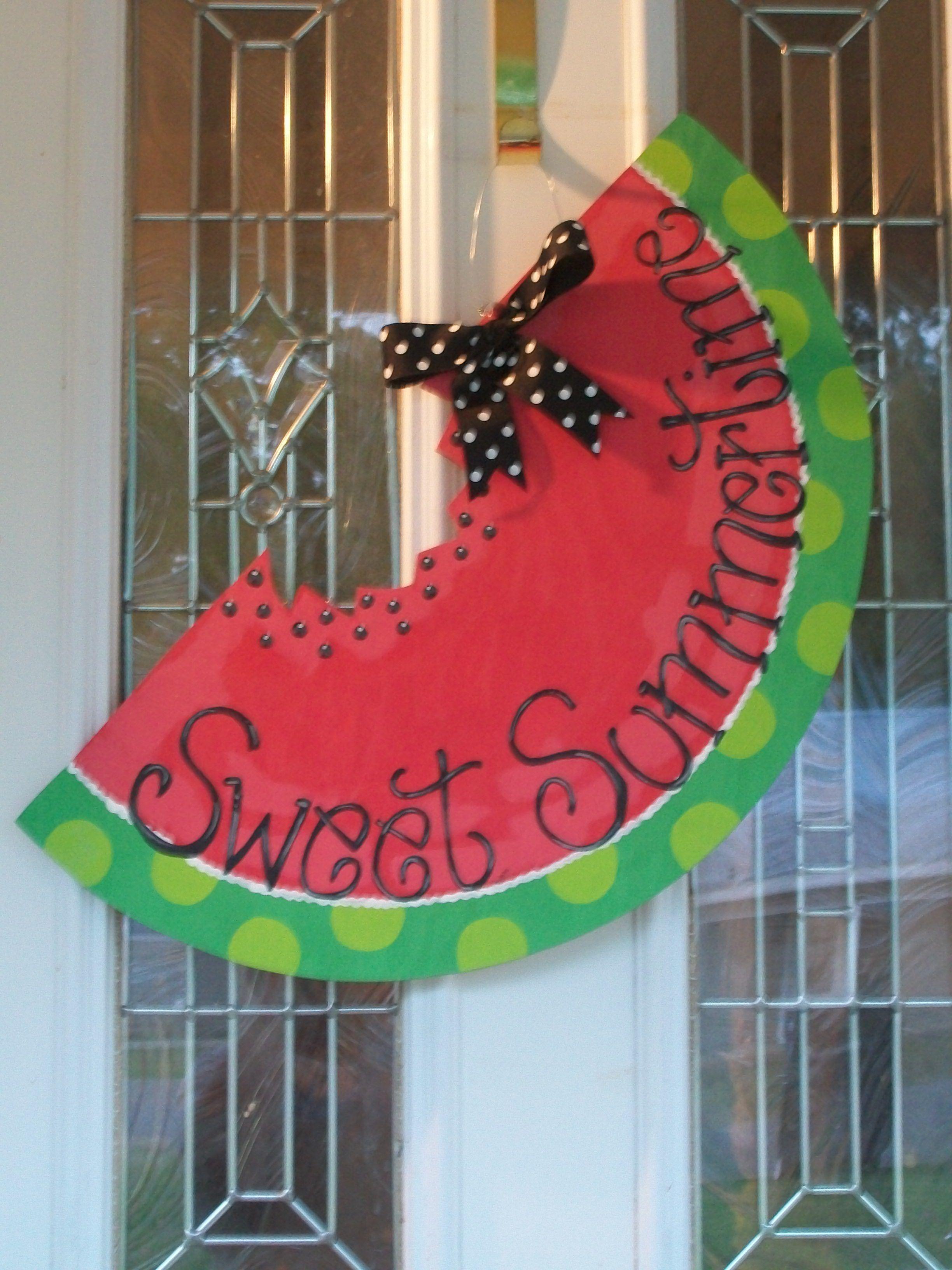 24 Quot Watermelon Slice Spring Summer Wooden Door Hanger