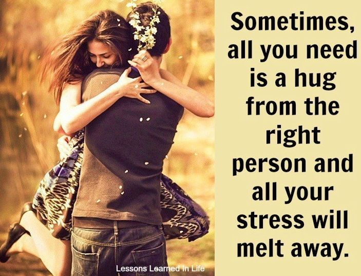 What Each Hug Means Quotes Stress melts with hug ...