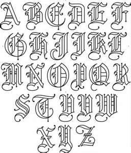Old English Tattoo Lettering Fonts