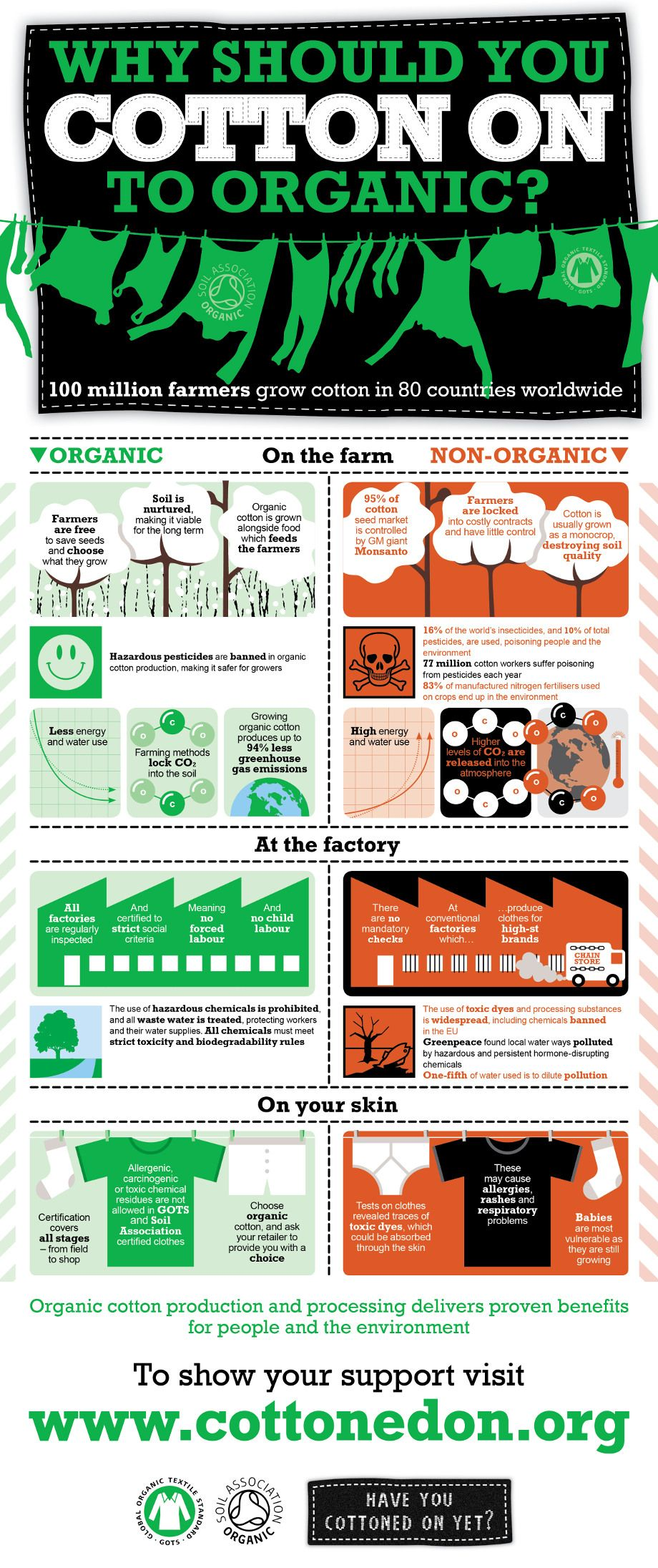Infographic Showing The Benefits Of Organiccotton Over