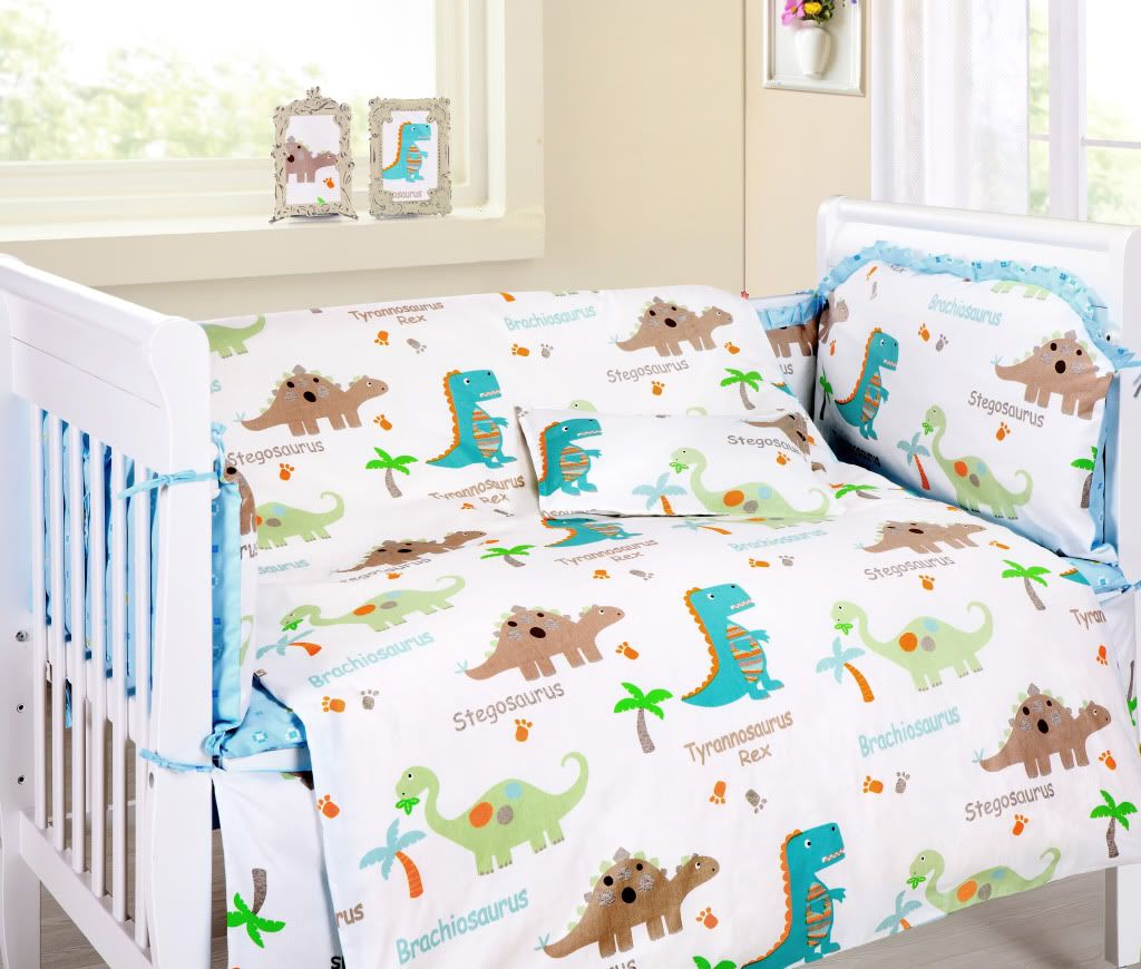 Baby Bedding Crib Cot Sets Cute Dinosaurs Theme