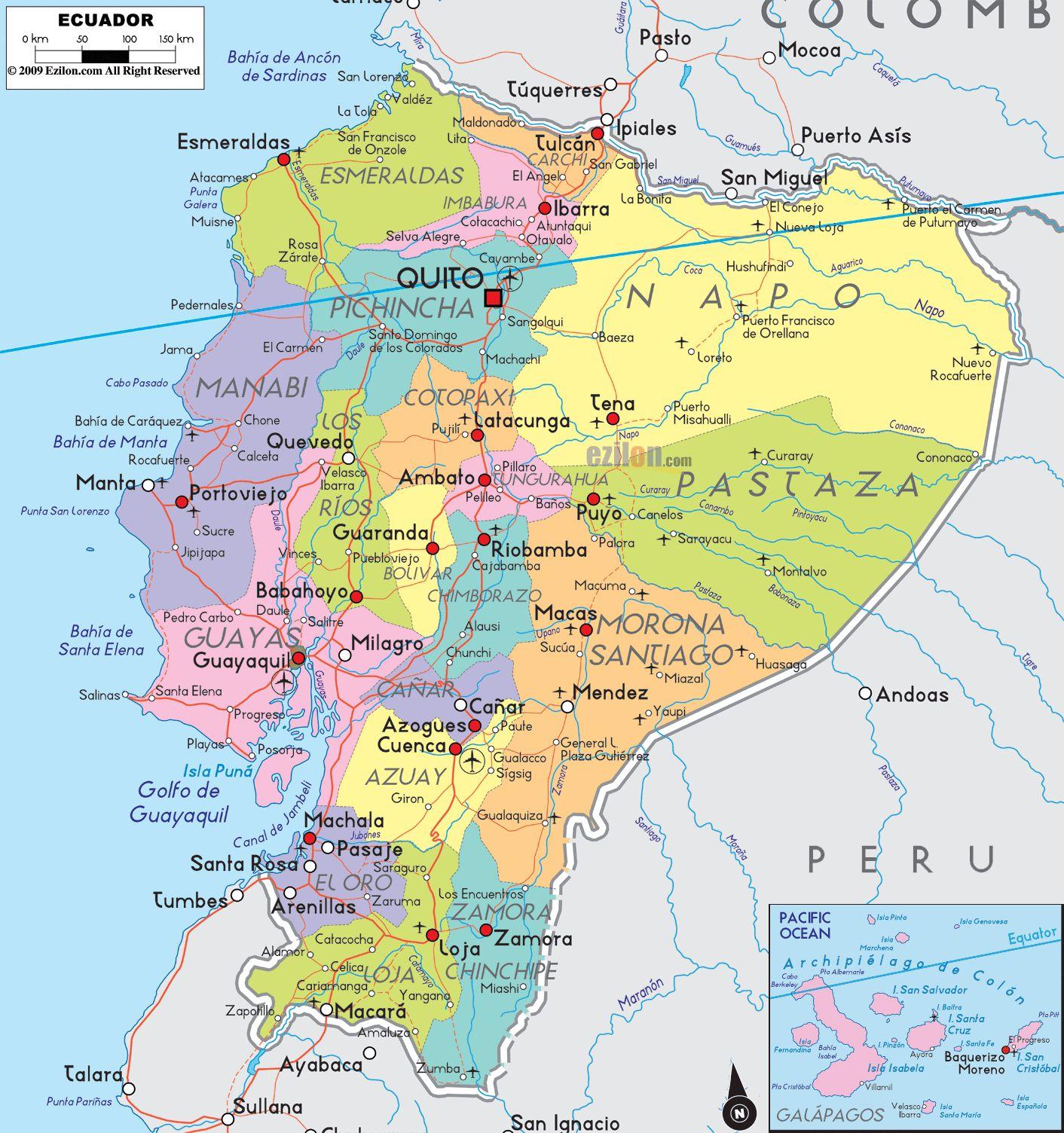 South America Map Galapagos Islands.Ecuador Ecuador Pinterest Ecuador Ecuador Map And Map