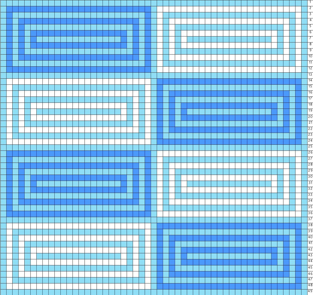 Free Bead Loom Patterns: Geometric Square Designs | Muster stricken ...