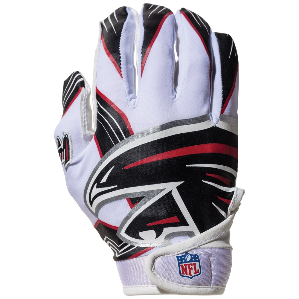 The Nfl Youth Team Receiver Gloves Are Designed For Ultimate Fit Feel And Function Constructed Of The Hi Atlanta Falcons Franklin Sports Sports Gear