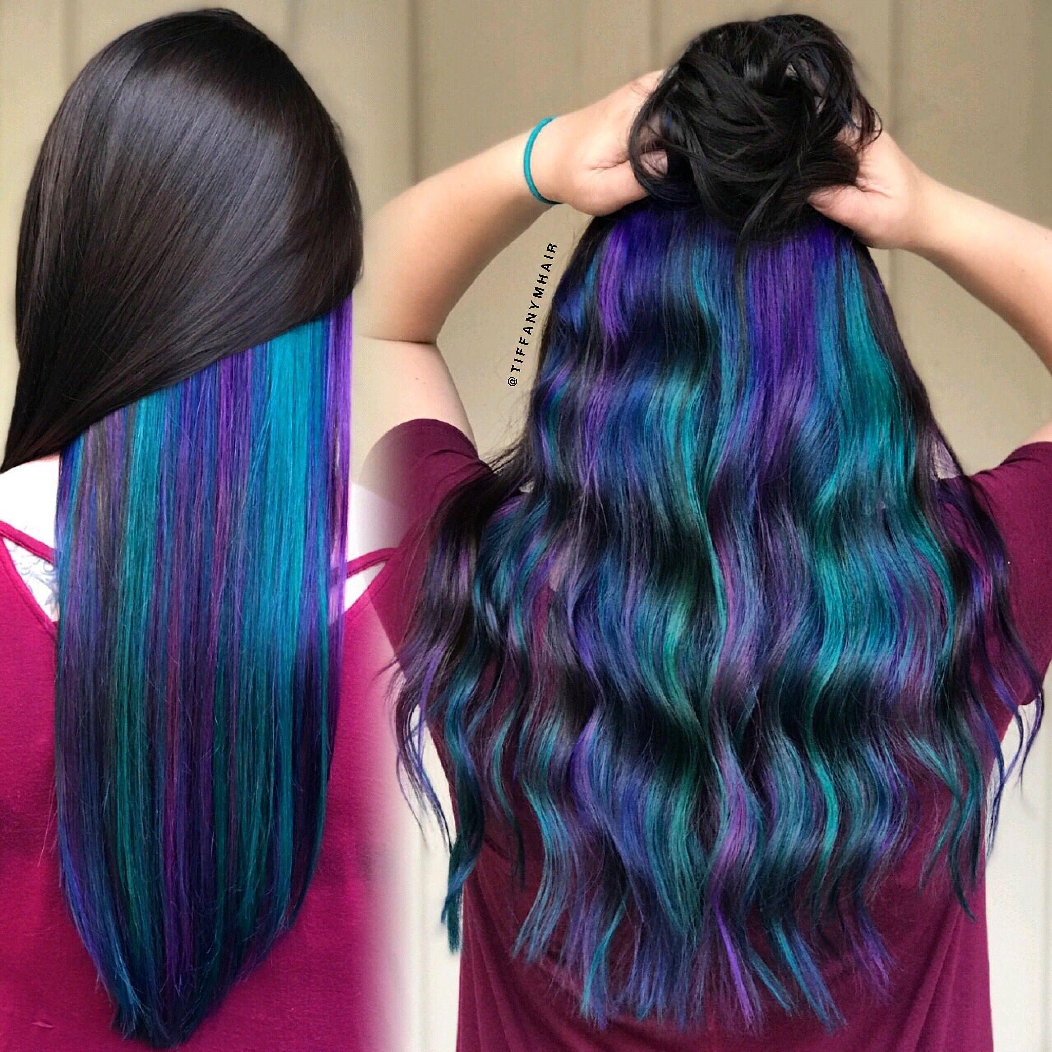Mermaid Hair Underneath By Tiffanymhair With Pulpriot Color