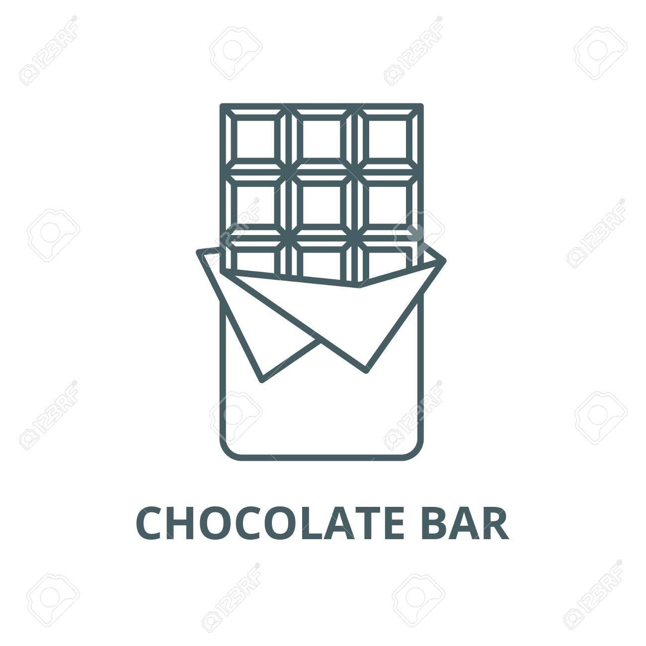 Chocolate Bar Line Icon Vector Chocolate Bar Outline Sign Concept Symbol Illustration Illustration Spon Icon Vector Symbol Logo Symbols Chocolate