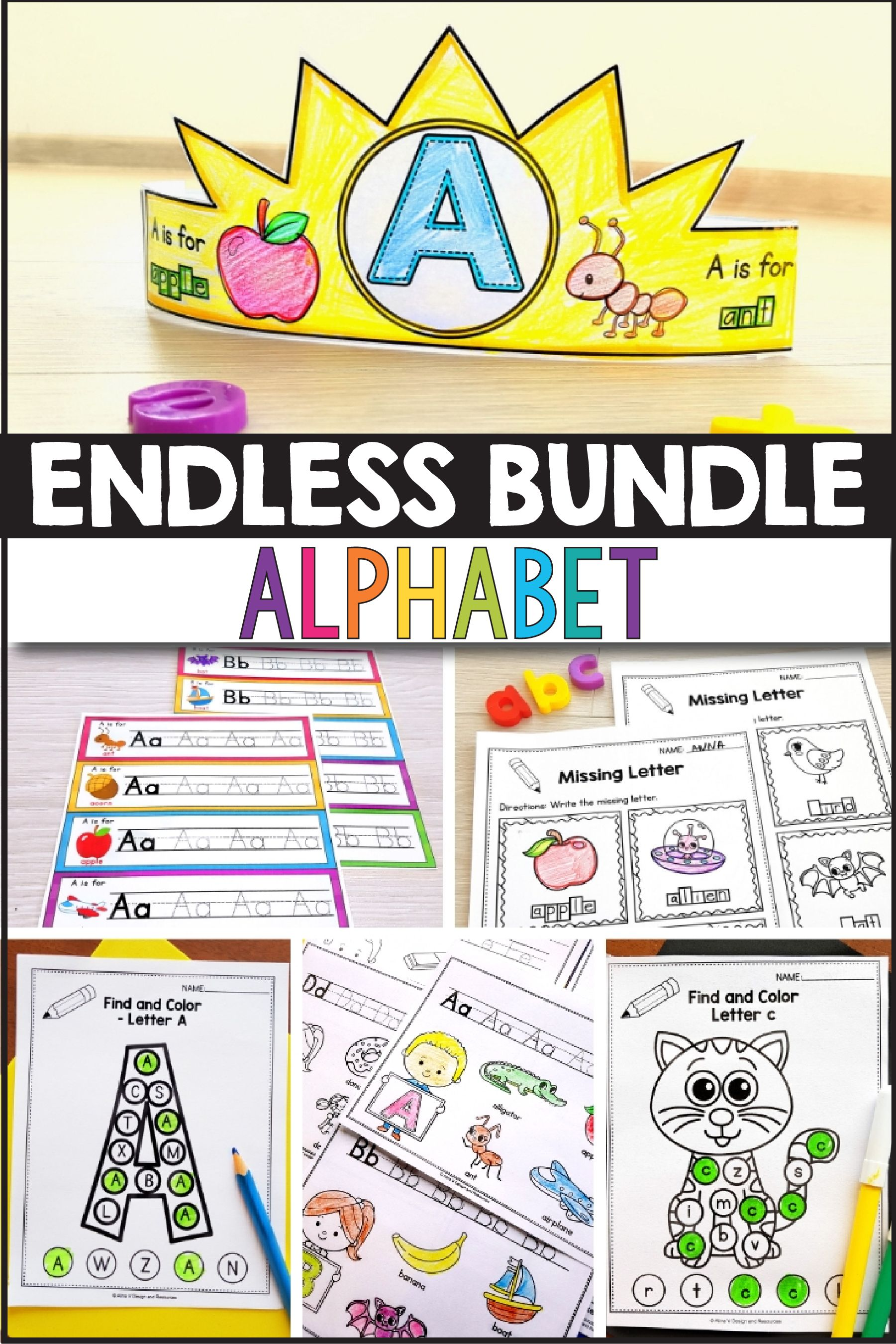 Endless Bundle Alphabet Tracing Worksheets Alphabet