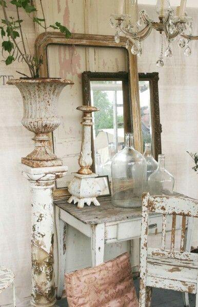 30 Distressed Rustic Living Room Design Ideas To Inspire: Brocante-Charmante Blog