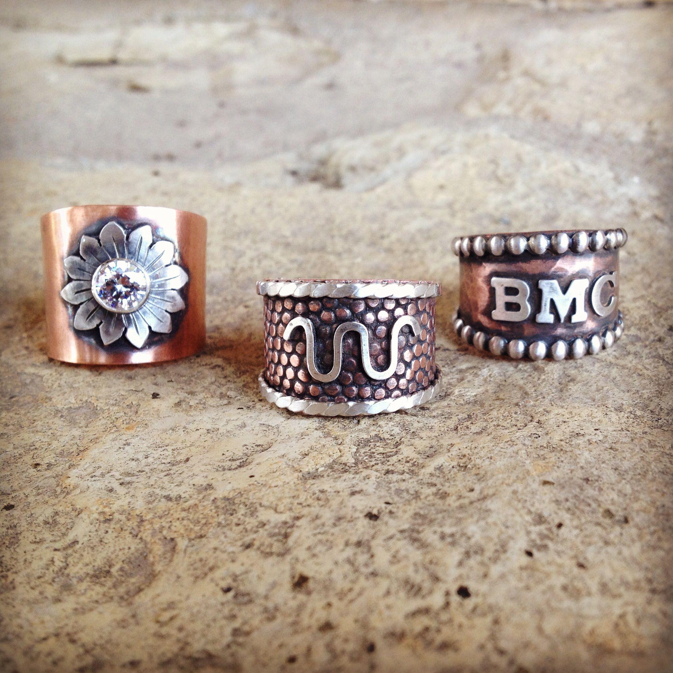 western wedding rings Custom handmade western rings by Silo Silver
