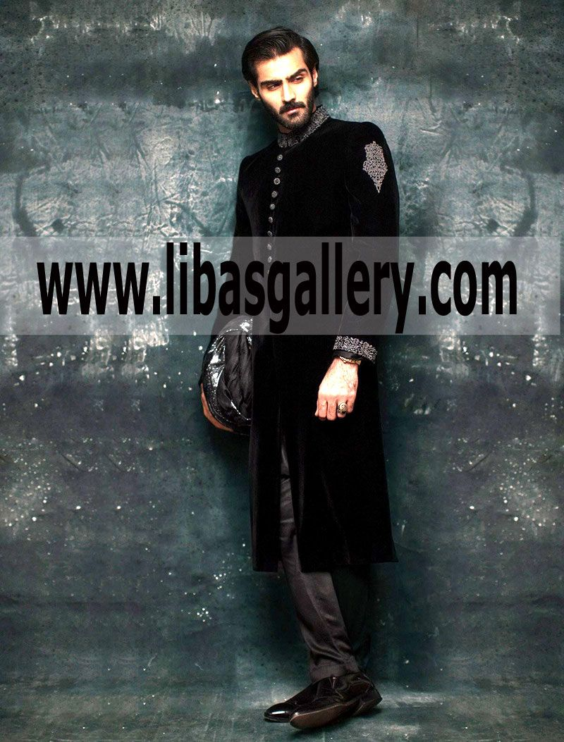 Pin On Latest Sherwani Collection For Groom Grand Wedding Embroidered Embellished Sherwani Buy Online