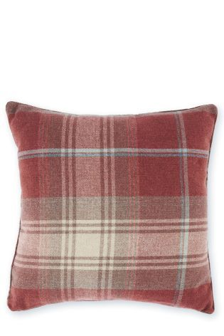 Buy Red Woven Stirling Check Cushion from the Next UK online ...