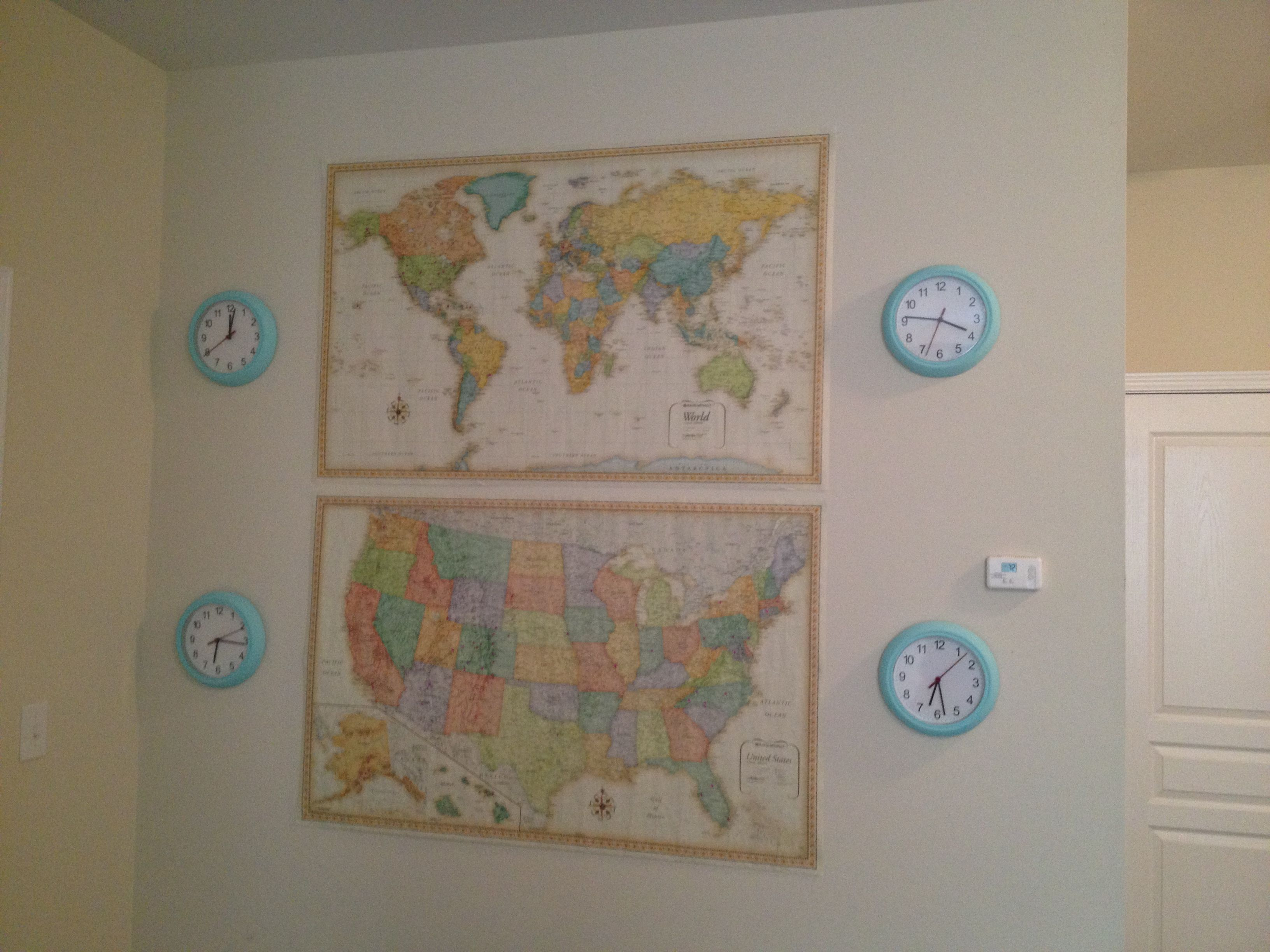 World And US Maps With Pins For All The Destinations Ive Been To - Travel wall map with pins