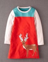 Woodland Knitted Dress (Bus Red Deer)