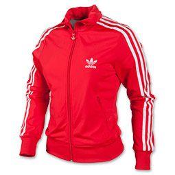 Red Adidas original firebird   Adidas mujer, Chaquetas mujer ...