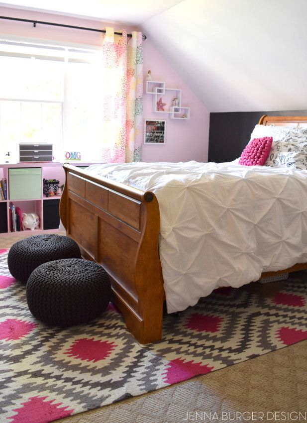 Perfect Teen Bedroom Makeover By JennaBurger With Rugs USAu0027s Fergana Ikat Trellis  UZB45 ...