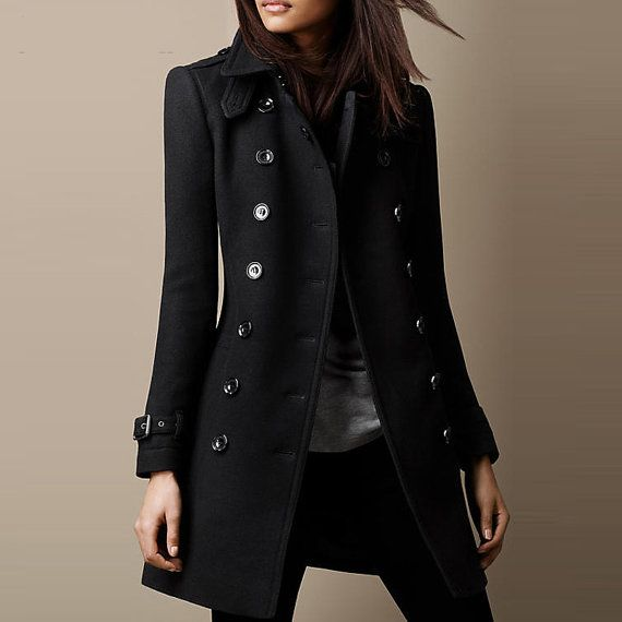 Ladies smart black winter coat – New Fashion Photo Blog