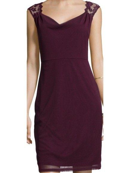 Esprit Collection Kleid Mit Wasserfallausschnitt Und Spitze In Rot Online Kaufen 9142962 Cocktailkleid Kleider Das Kleine Schwarze