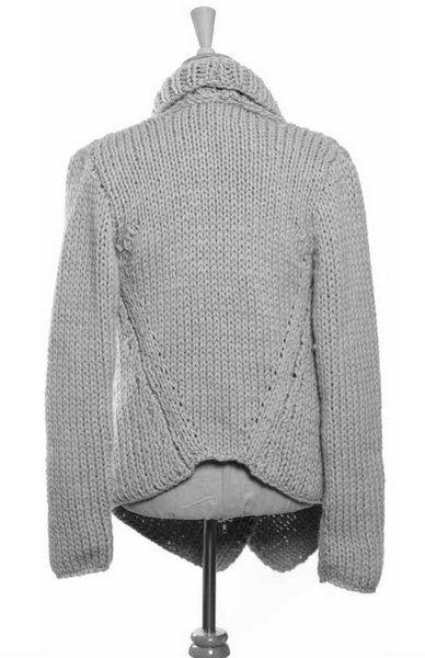68f56e95f Erika Knight Maxi Wool Rib Wrap Cardigan Knitting Pattern PDF ...