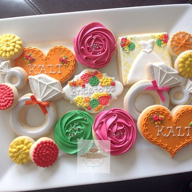 @natsweets - Bright floral bridal shower cookies for... - EnjoyGram
