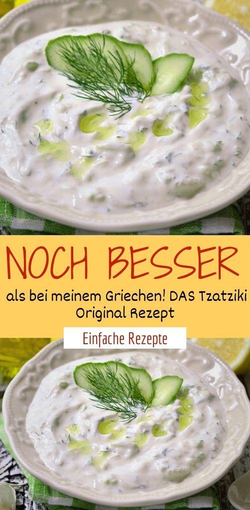 Noch besser als bei meinem Griechen! DAS Tzatziki Original Rezept  #schnellepartyrezepte
