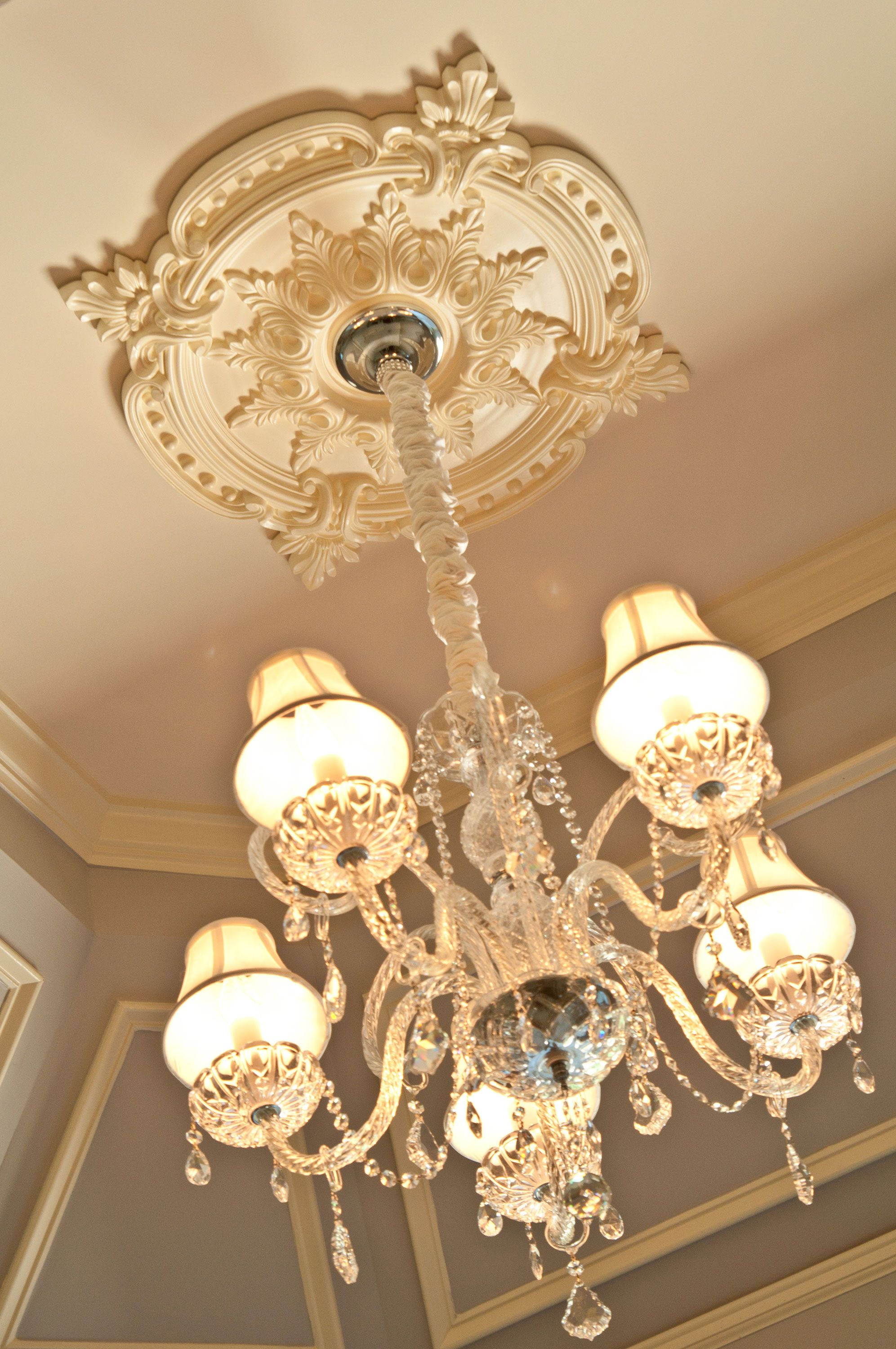 ceiling medallion chandelier Google Search