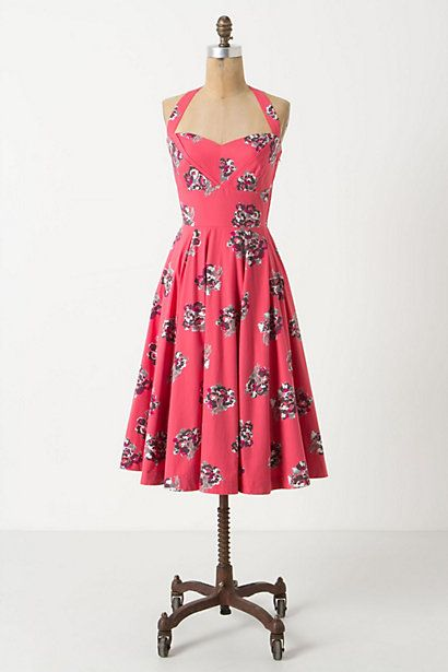 Akebono Halter Dress #anthropologie
