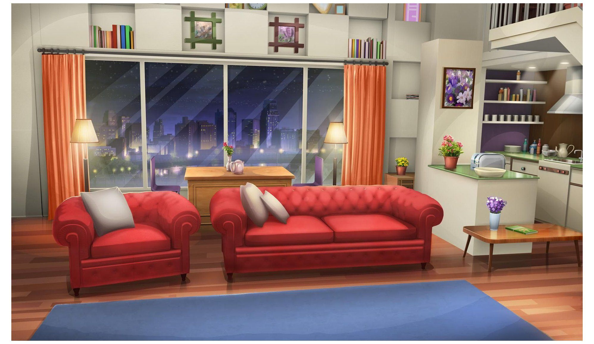 gacha life background living room