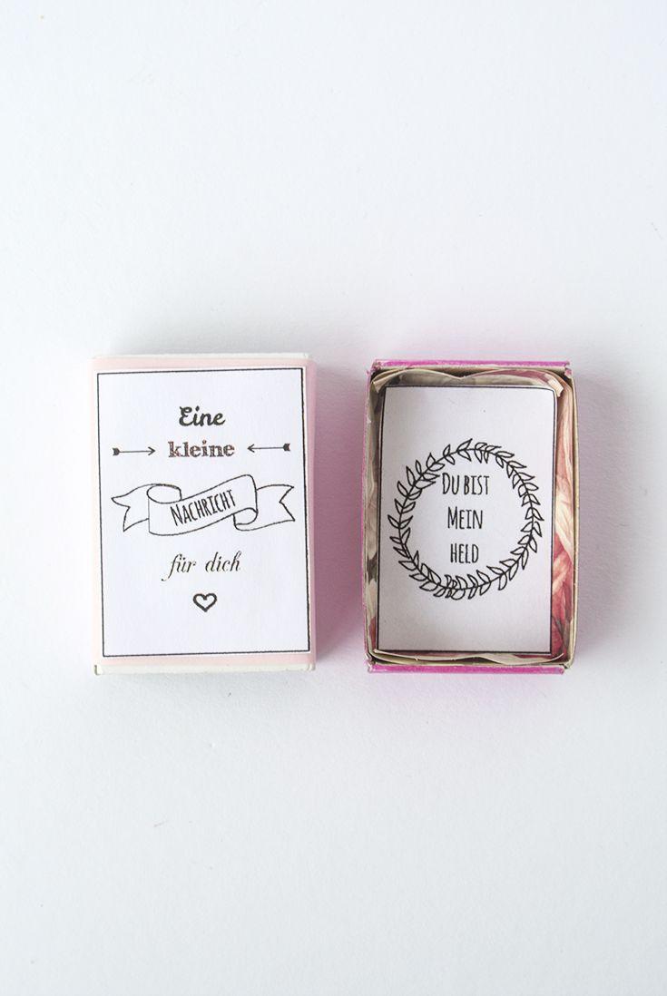 Anzeige Kleine Liebesbotschaft aus einer Streichholzschachtel für meinen Alltagshelden #werbung für Idealclean