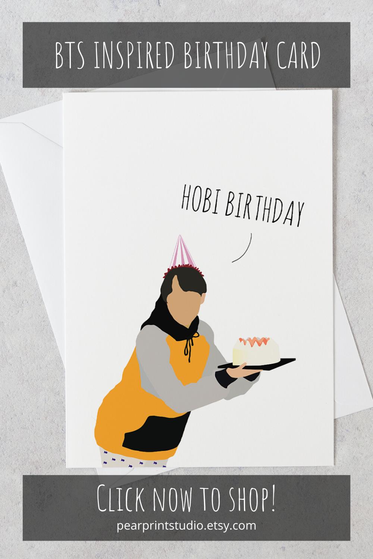 Hobi Birthday Bts Birthday Card Bts Greeting Card J Hope Bts J Hope Bts Jhope Kpop Birthday Bts Birthdays Birthday Cards Cute Birthday Cards
