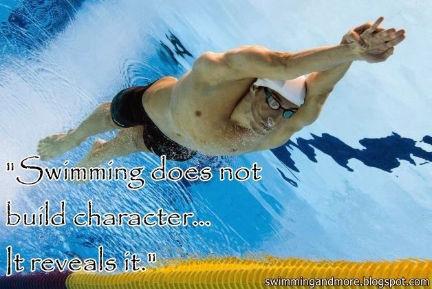 swimming does not build character it reveals it olympic swimmers underwater