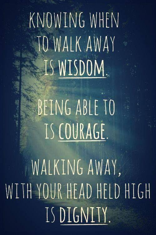 Wisdom. Courage. Dignity