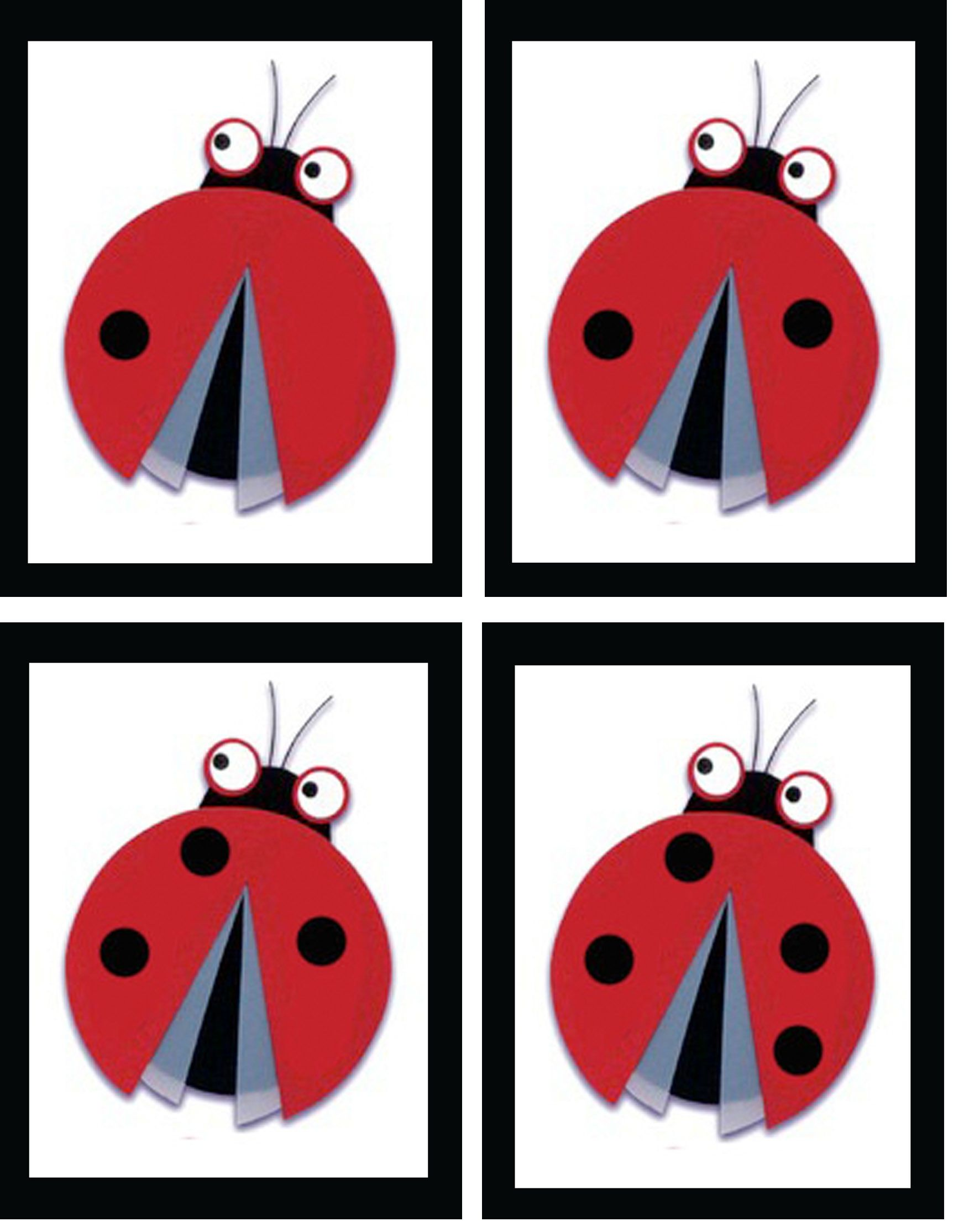 A Little Ladybug Math Match The Numeral With The Correct Number Of Ladybug Dots