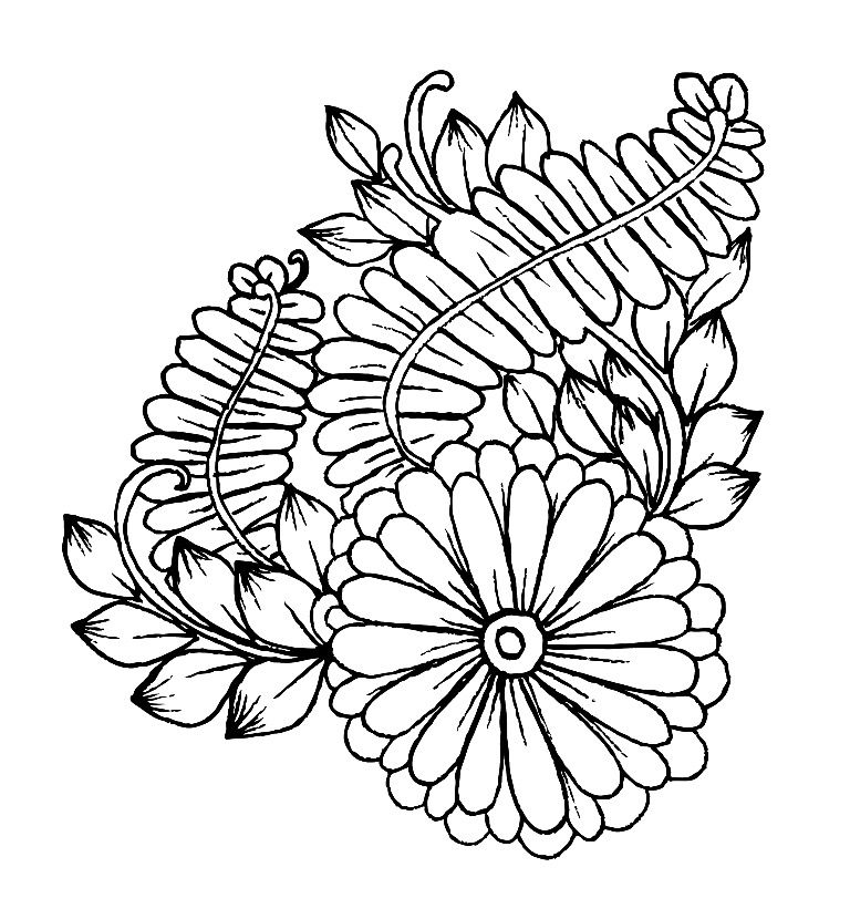 Coloring page from the ColorArt coloring app Mandalas